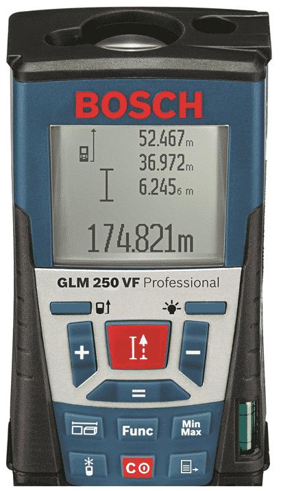 Le télémètre laser BOSCH GLM 250VF